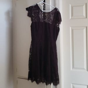 Perfect for the holidays. Chocolate lace dress